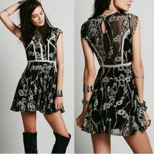 Free People Laurel Lace Embroidered Dress